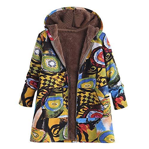 Women Plus Size Hooded Jackets Duseedik Long Sleeve Down Coat Cotton Overcoat Linen Fluffy Fur Zipper Outwear - Jlo Womens Metal