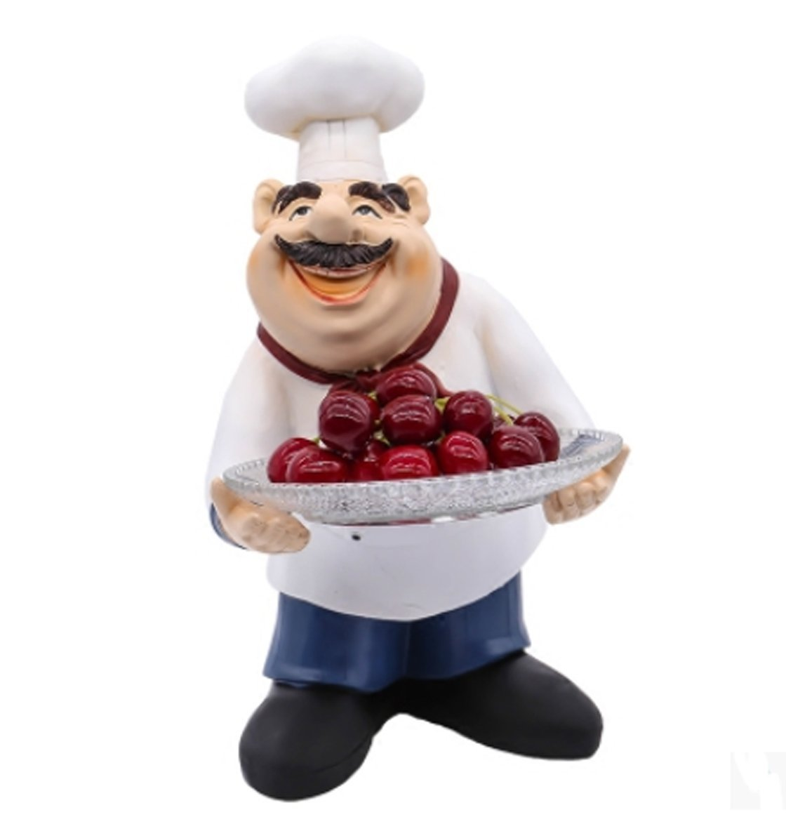 Amazon Com Creative Resin And Glass Chef Figurine Fruits And