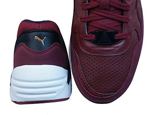 Sneakers In Pelle Trinomica Puma R698 Uomo / Scarpe Bordeaux