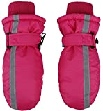SimpliKids Children's Winter 3M Thinsulate Waterproof Ski Mittens,XS,Fuchsia