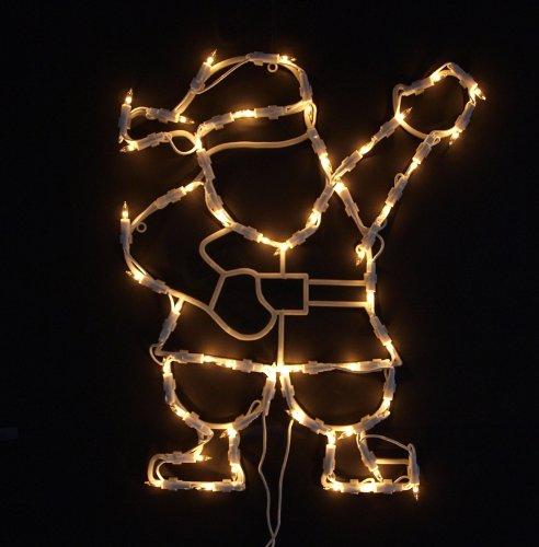 Fensterbild beleuchtet / Lichterkette Weihnachtsmann / Nikolaus, m. Saugnapf