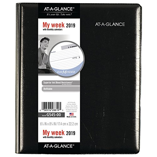 A-glance Executive Planner - at-A-Glance DayMinder Refillable Weekly/Monthly Planner, January 2019 - December 2019, 6-7/8