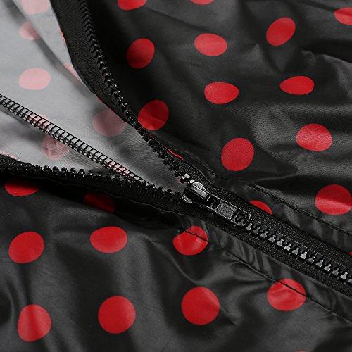 Et Raincoat De Cravog Longue Imperméable Points Capuche Noir Manteau Queue A Jacket Mode Pluie Poisson Rouge Femme Imprimé qqA7a8w