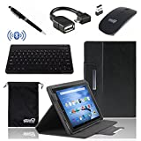 EEEKit 5 Items Office Solution Kit for Fire HD 10 10.1 inch Tablet,Folio Stand Case Cover,Wireless Bluetooth Keyboard,OTG Cable,2.4G Wireless Mouse