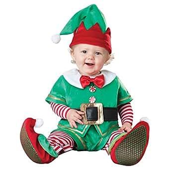 GoldBucket Unisex Baby's Santa's Lil' Elf Costume (90 6-12 months)