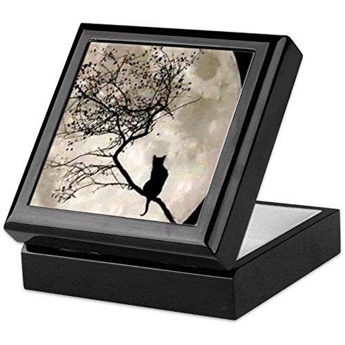 CafePress - Catmoon7100 - Keepsake Box, Finished Hardwood Jewelry Box, Velvet Lined Memento Box