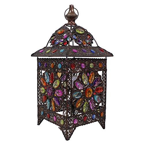 European Style Retro Mittelmeer Tisch Lampe Schlafzimmer Nachttisch Lampe Kreative Eisen Plexiglas Farbige Perlen Handgemäßhte Lichter Tischleuchten E14
