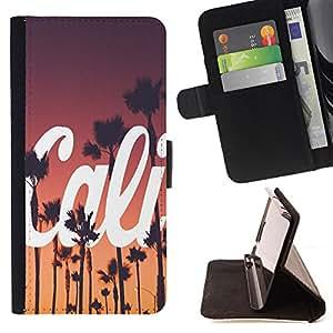 Dragon Case- Caja de la carpeta del caso en folio de cuero del tirš®n de la cubierta protectora Shell FOR Apple Iphone 5C- California Summer Funny