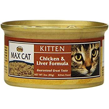 NUTRO MAX CAT Kitten Chicken and Liver Formula Canned Cat Food (Pack of 24)