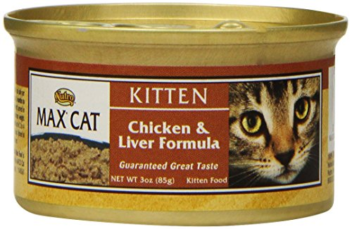 Nutro MAX CAT Kitten Chicken and Liver Formula Canned Cat Fo