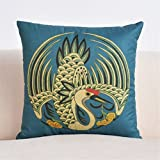 Japanese style cotton linen pillow retro creative and wind linen cushion living room sofa cushion waist pillow fabric home containing core C/4545cm?18''18'')