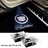 Cadillac Car Door Light Projector LED Logo Lights Projection Ghost Lights Shadow Welcome Lamp for SRX XTS ATS Accessories Easy to Install for Driver and Passenger Doors (2 PCS)