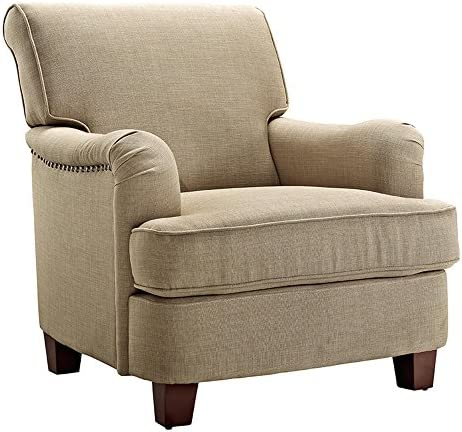 Dorel Living Rolled Top Club Chair Nailhead