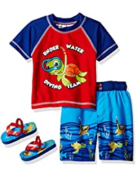Wippette boys Turtle Rash Guard Set