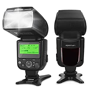 APEMAN Speedlite Flash for Canon Speedlight Flash for Nikon Sony Panasonic Pentax Olympus DSLR Cameras with Standard Hot Shoe