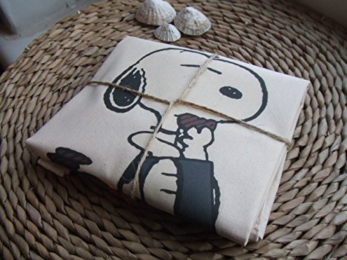 Bag Reusable Tote Beach Natural Bag Snoopy Cotton Cookies Bag Gift Shoulder Snoopy amp; Tote Bag Summer Snoopy Bag Eating Perfect Great Shopping Adorable qXBwvv
