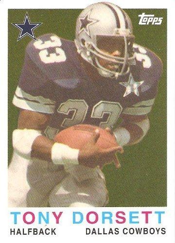 2008 Topps Turn Back the Clock #16 Tony Dorsett - Dallas Cowboys (Hall of Famer)(Football Cards) from Topps