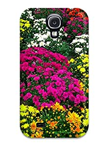 New Style 6272240K39339864 Faddish Phone Fall Flowers Case For Galaxy S4 / Perfect Case Cover