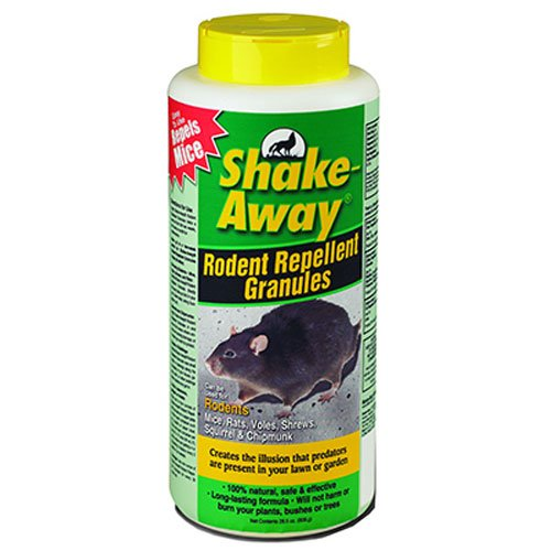 Shake Away 2853338 Rodent Repellent Granules, 28-1/2-Ounce (Organic Squirrel Repellent)