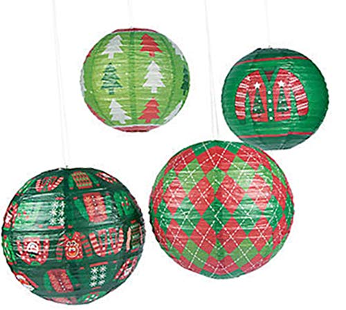 Ugly Sweater Party Supplies Paper Lanterns Decorations Set 12