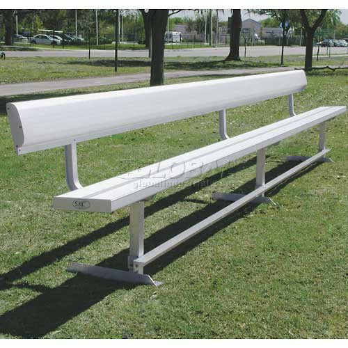 ultraPLAY 15' Park Bench with Back, Aluminum ()