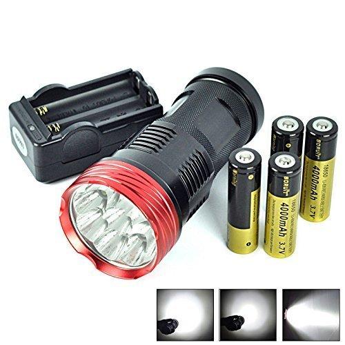 SkyRay Lumens Waterproof LED Flashlight Torch - 4