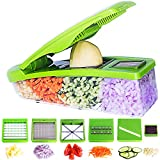 Pro Vegetable Chopper by DOTERNITY - Vegetable Grater Potato Slicer - Cutter for Cucumber, Onion with 6 Stainless Steel Blades - Tomato Mandolin Slicer - Food Container with Storage Lid