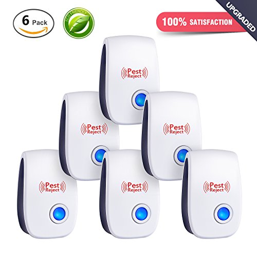 [2018 NEW]Ultrasonic Pest Repeller & Mouse Repellent Plug in Pest Control - Insect Repellent & Bug Repellent for Mosquito,Mice,Rat,Bedbug,Roach,Ant,Fly,Flea,Spider - No more Trap,Spray & Bait
