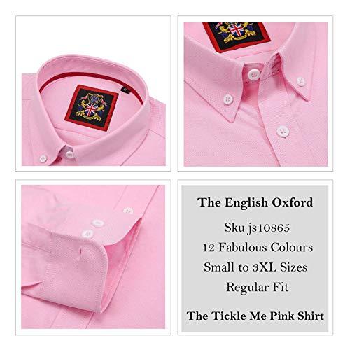 Tickle Camicia Men's Me Shirts Uomo Classiche Janeo Pink EXad8wqq