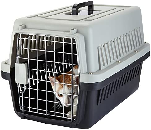 Yvettevans Portable Airline Approved Top-Load Pet Kennel Cats Travel Cage Car Travel Vet Visit Dogs Carrier Crate Outdoor Kennel