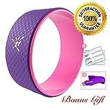 Risefit Dharma Yoga Prop Wheel for Yoga Poses, Purple