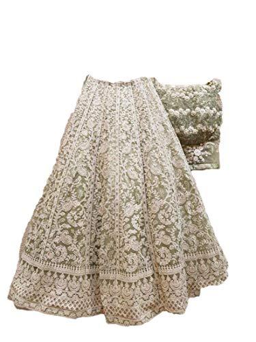 REKHA Ethnic Lehenga Choli Indian Women Designer Partywear Ethnic Traditional Lehenga Choli Wedding Wear Lehenga 11 White