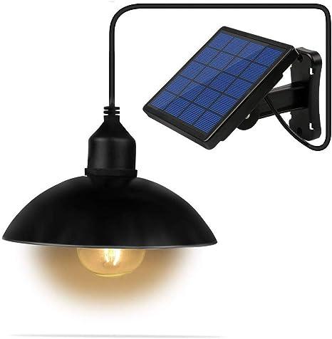 XTYD LED Solar E27 Bombilla Lámparas solares Luces solares portátiles Lámpara Bombilla para Exterior Jardín Interior Camping Senderismo Lectura Tienda Pesca Iluminación,A: Amazon.es: Deportes y aire libre