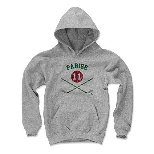500 LEVEL Zach Parise Minnesota Wild Youth Sweatshirt (Kids Large, Gray) - Zach Parise Sticks -