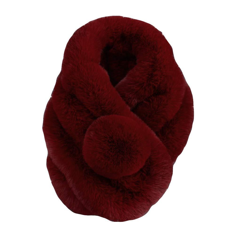 Becoler Women Winter Warm Scarf Fashion Thicken Fur Imitation Fur Grass Scarves Becoler Scarves