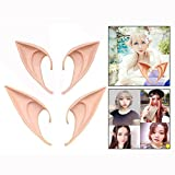 OFKPO 2 Pairs Fairy Pixie Ears Cosplay Accessories Halloween Party Vampire Monster Elven Ears