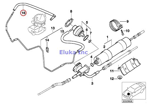 Amazon Com Bmw Genuine Fuel Filter Pressure Regulator Vacuum Pipe