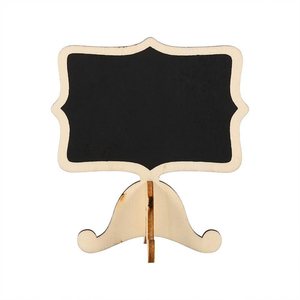 enshey 100 Mini Holz Nachricht Board Kreidetafel Tafel Nachricht ...