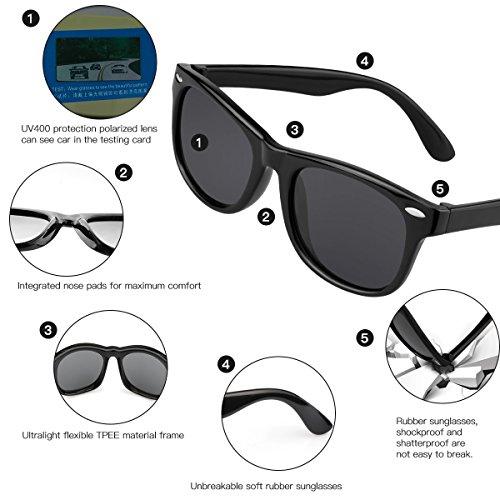 15329f89fee6 Kids Sunglasses Polarized kds Sunglasses Girls Baby Sunglasses Boys Age 4-10