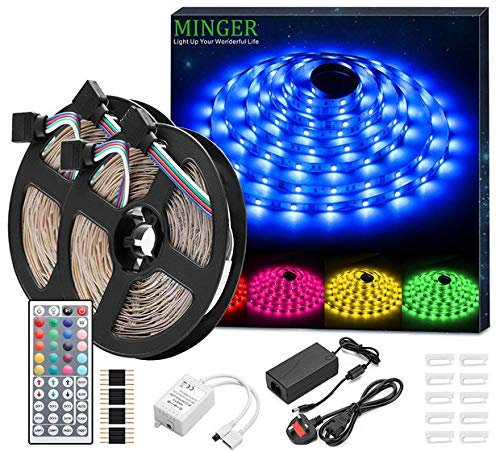 the best attitude 0684d 4bdc9 Details about Minger LED Strip Lights Kit, Non-waterproof 2x5m(10m in  Total) 5050 RGB...