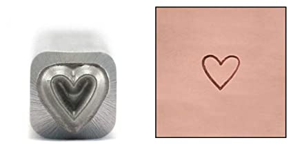 Amazon Com Heart Metal Design Stamp 3 5mm Tall Open Shaped