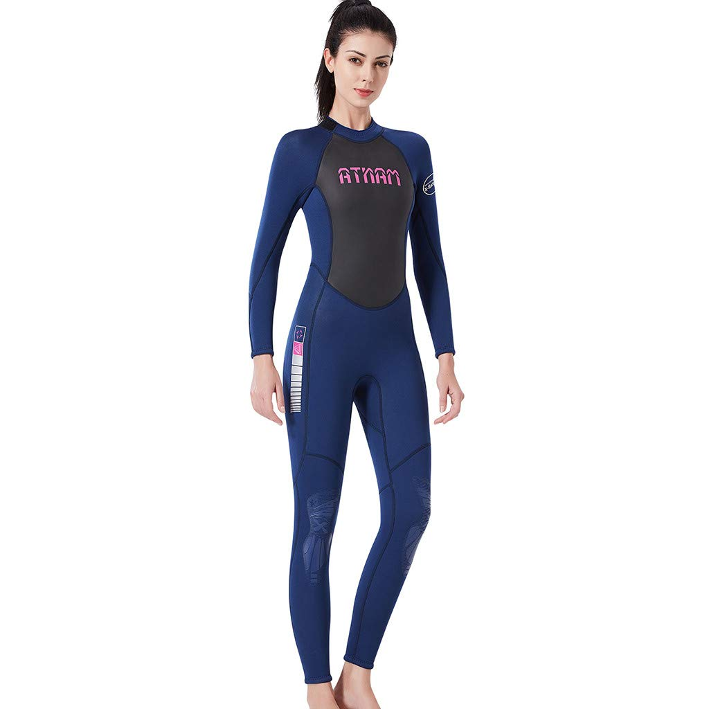 Women's Keep Warm Sunscreen Swimming,Surfing and Snorkeling Diving Coverall Suit by LUXISDE (Image #3)