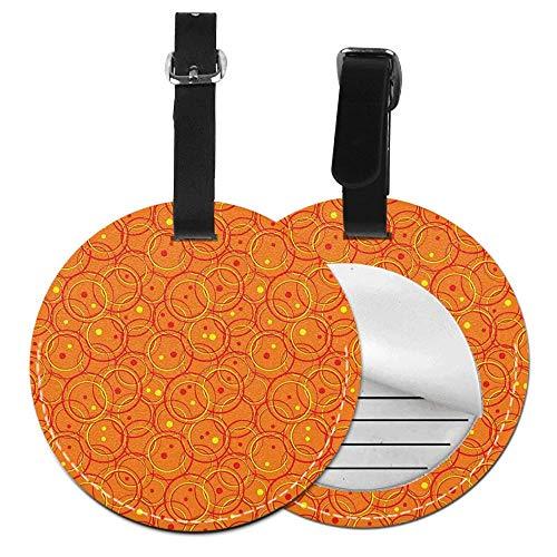 Microfiber PU leather Round luggage tag(1 pcs,2 pcs,4pcs)