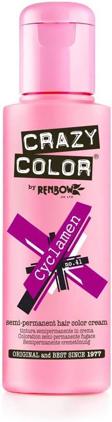Crazy Color Cyclamen Nº 41 Crema Colorante del Cabello Semi-permanente