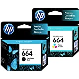 HP 664 Ink Cartridges Combo ( Black + TRI-COLOR ) Original Ink Cartridge Deskjet - 2 Pack