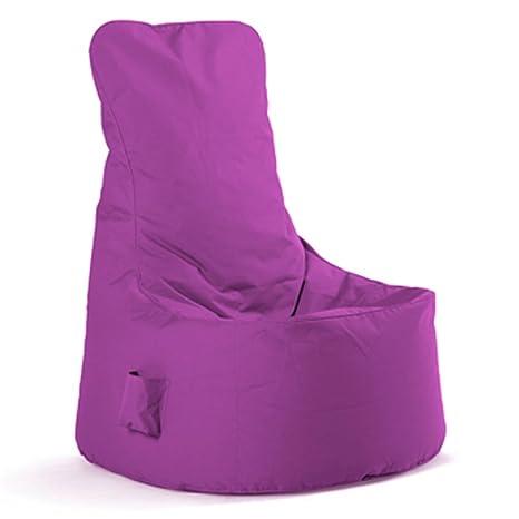 Sitting Bull Cojín Puff Niño Chill Seat Mini Violeta: Amazon ...