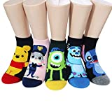 Socksense Animation Character Disney Series Women's Original Socks (Pooh Jelly_5pairs)
