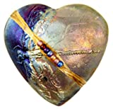 Cheap J Davis Studios Raku Dragonfly Heart Rattle
