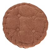 Hoomall Solid Color Warm Winter Corn Lattice Thicken Chair Seat Cushion Soft Mat Pad for Home Office 1 Pc 20 Inches Round ,Coffee