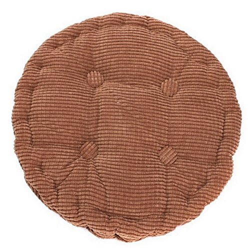 Hoomall Solid Color Warm Winter Corn Lattice Thicken Chair Seat Cushion Soft Mat Pad for Home Office 1 Pc 20 Inches Round ,Coffee by Hoomall